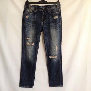 Zara Basic Denim Z1975 Distressed Womens Jeans 4
